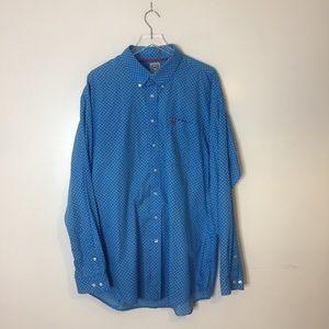 Cinch Blue Printed Long Sleeve Shirt. XXL